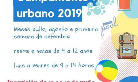 Novo prazo de inscricións para o Campamento Urbano 2019 na Guarda