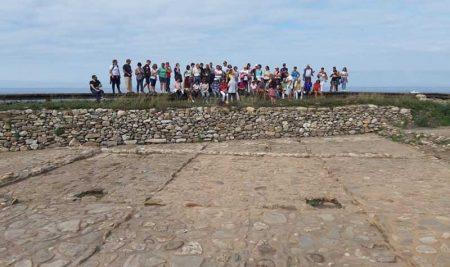 Máis dunha vintena de persoas participaron nunha nova visita guiada ás Salinas romanas da Guarda