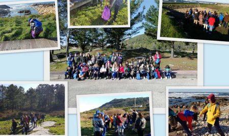 Escolares da Guarda participaron nunha visita guiada ás escavacións das Salinas romanas