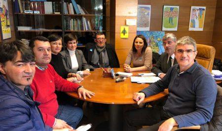 Mancomunidade do Baixo Miño, membros do San Xerome e o Director Xeral de Política Social reúnense en Santiago