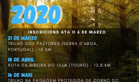 Novo calendario de Andainas de Primavera 2020 na Guarda