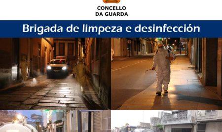 O Concello da Guarda incrementa a desinfección e limpeza de espazos públicos
