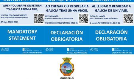 Medidas en relación aos viaxeiros procedentes doutros territorios que se acheguen a Galicia
