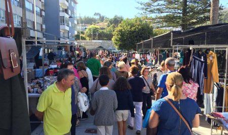O mercadillo semanal dos sábados pasa aos venres o 7 e 14 de agosto na Guarda