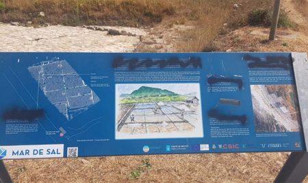 A Guarda condena o ataque vandálico contra as Salinas do Seixal