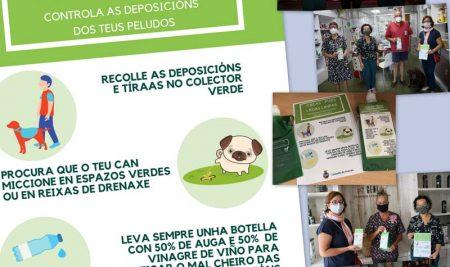 A Guarda continúa co reparto de material da campaña de concienciación sobre limpeza viaria para propietarios de animais