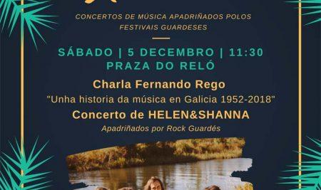 O grupo Helen & Shanna actúa na Praza do Reló da Guarda o vindeiro 5 de decembro