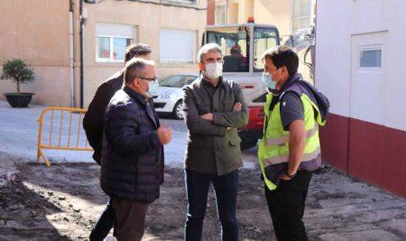 Arrancan as obras de mellora da Rúa Calvario na Guarda