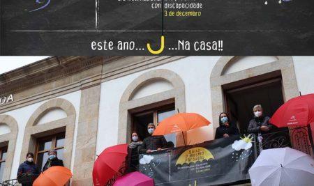 A Guarda participa na Campaña -Baixo o mesmo paraugas- no Día Internacional das Persoas con Discapacidade