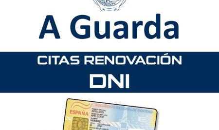 Citas para a renovación do DNI na Guarda no mes de febreiro