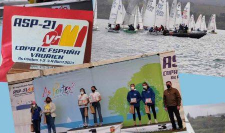Deportistas do Club Alagua participan na Copa de España de Vaurien