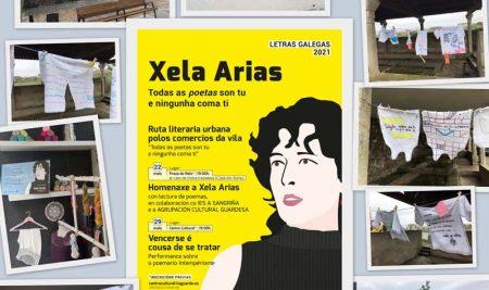 A Guarda engalanase para conmemorar a figura de Xela Arias nas Letras Galegas