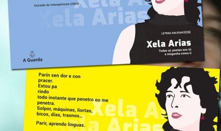 A concellería de Cultura propón unha exposición de poemas de Xela Arias polos comercios da vila