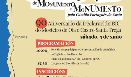 """A andaina """"de Monumento a Monumento"""" conmemorará o 90 aniversario da declaración de Ben de Interese Cultural do Mosteiro de Oia e o Monte de Santa Trega"""