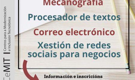 Novos cursos de alfabetización dixital de balde na Aula CeMIT da Guarda